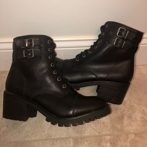 Black MaddenGirl leather boots!
